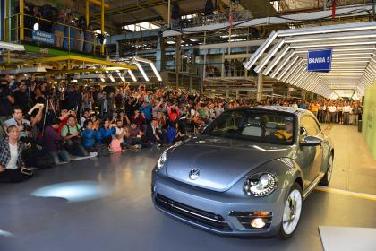 Volkswagen Beetle production line