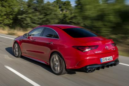 Mercedes-AMG CLA 45 S - rear tracking