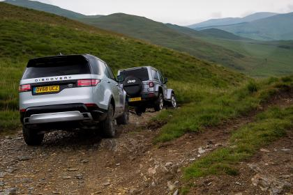 Green Laning  - Land Rover discovery & Jeep Wrangler off-roading