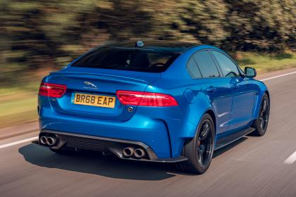 Jaguar XE Project 8 - rear tracking