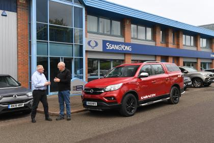 SsangYong Musso long term review - dealership front