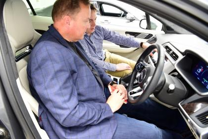 JLR tech secrets feature- Steve in car