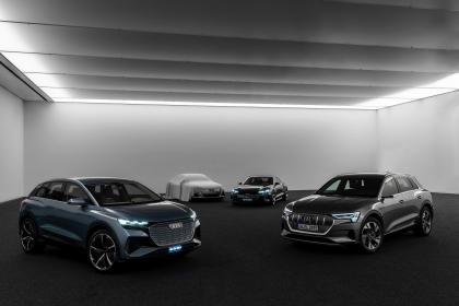 Audi electric car concept - range teaser