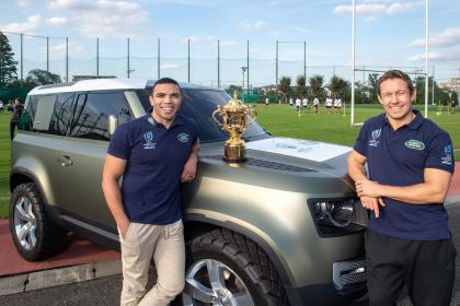 Land Rover Defender 90 - Bryan Habana and Johnny Wilkinson