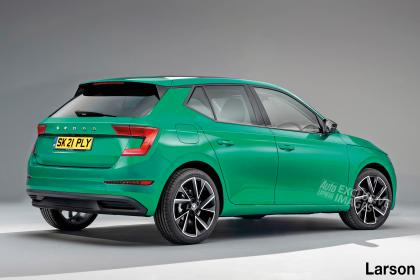 2021 Skoda Fabia exclusive image - rear 3/4 static
